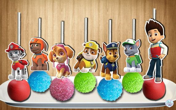 Instant Paw Patrol Cake Pop Toppers In 2 Sizes