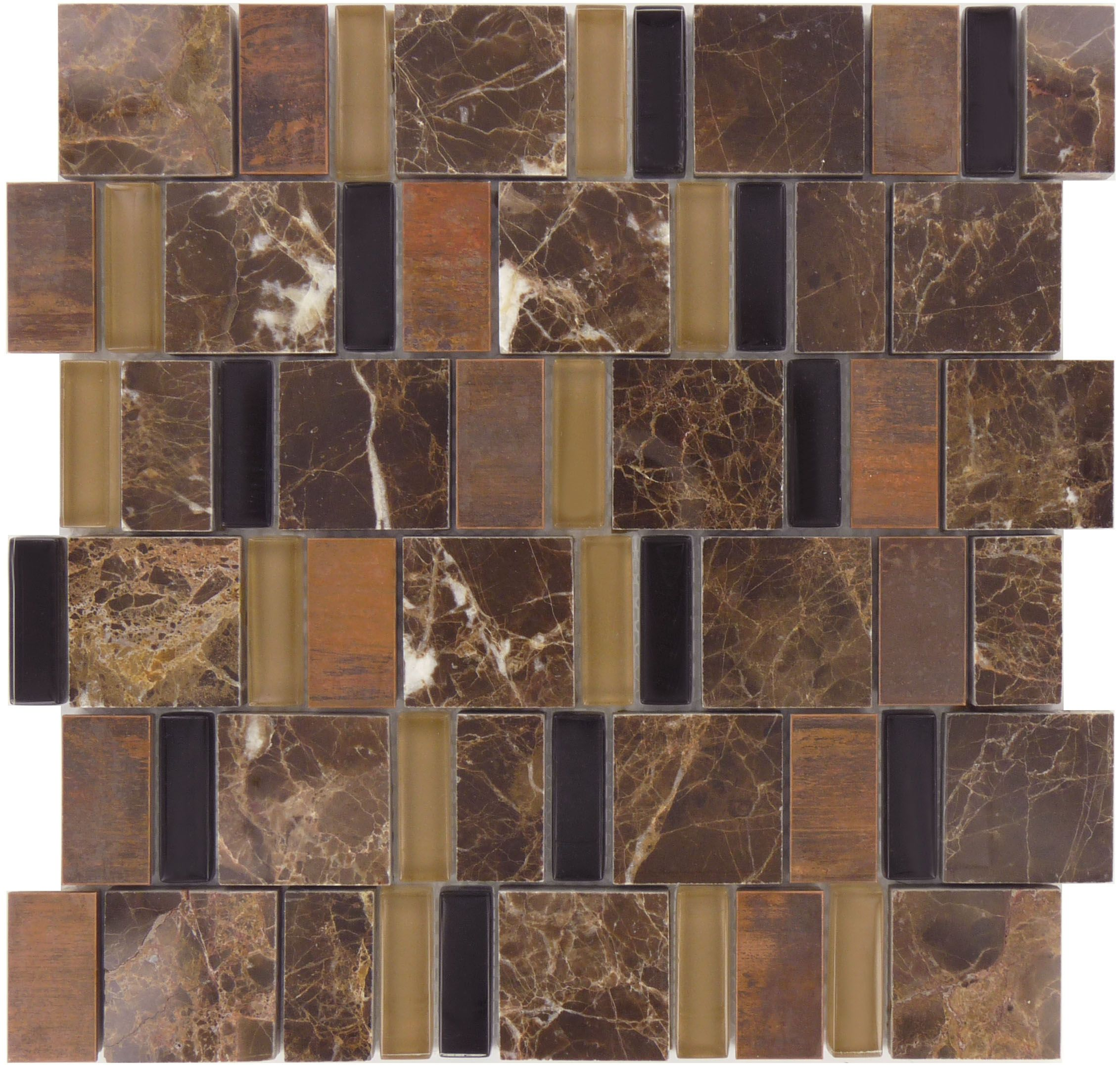 Millenium Products  Academia Series, Unique Shapes, Majestic, Glossy & Polished, Brown, Glass, Stone & Metal