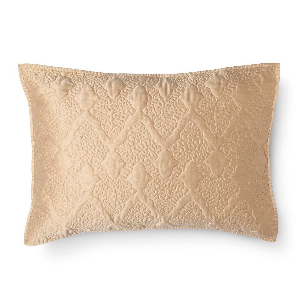 Vermicelli Quilted Pillow Sham King Gold - Fieldcrest