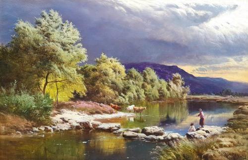 Sidney Richard Percy (British 1821-1886) The Llugwy, North Wales  Haynes Fine Art