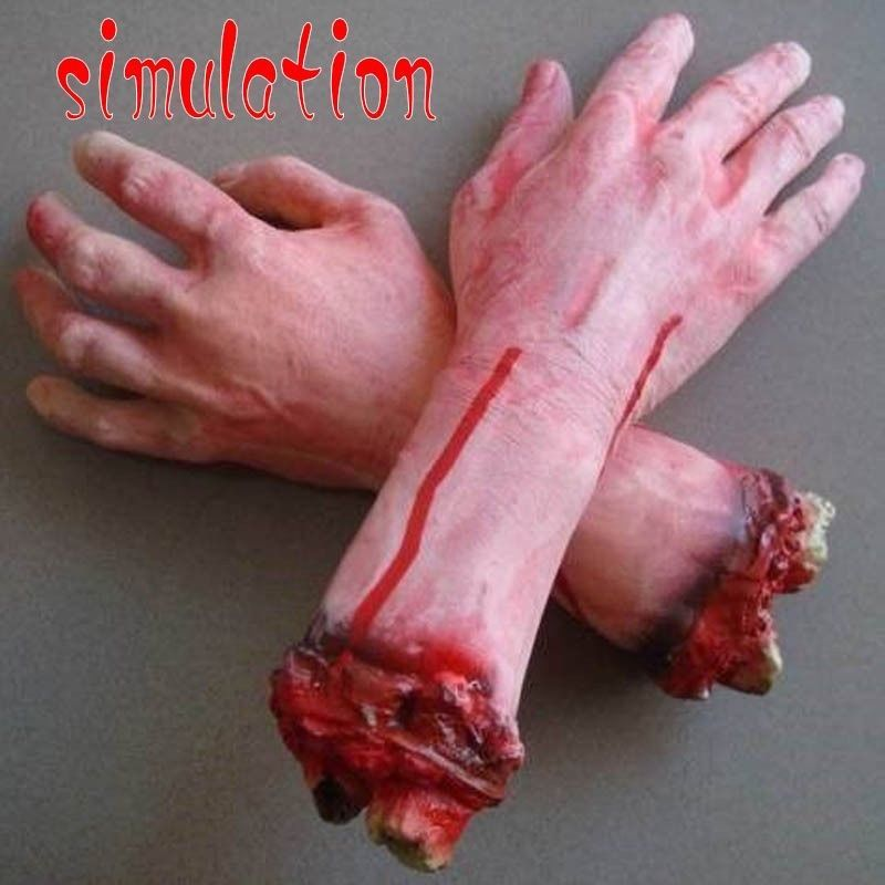Bloody Horror Scary Halloween Prop Fake Severed Lifesize Arm Hand