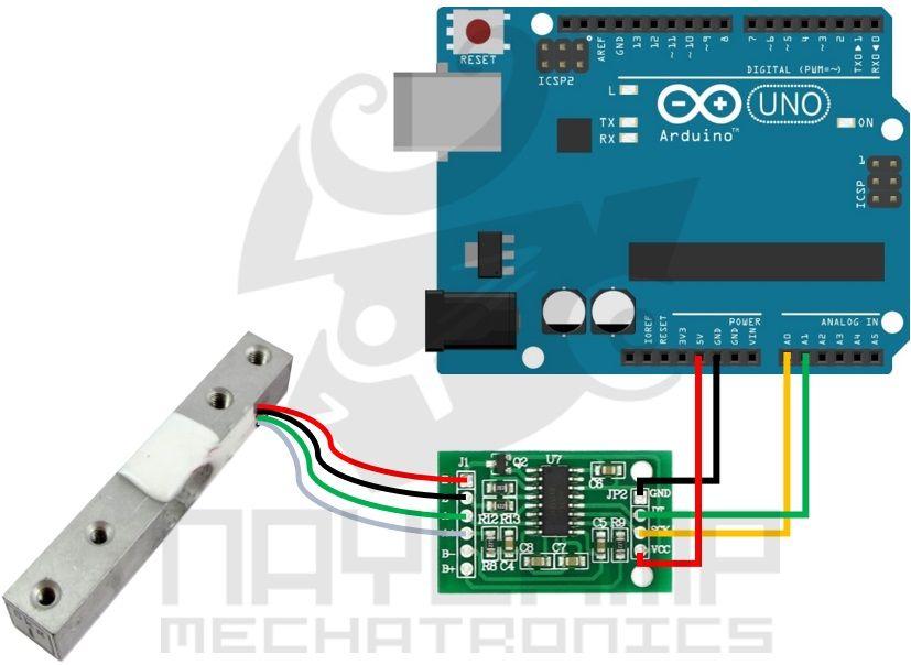 Coenxiones Celda De Carga Hx711 Arduino Balanza Digital Proyectos De Arduino Balanza