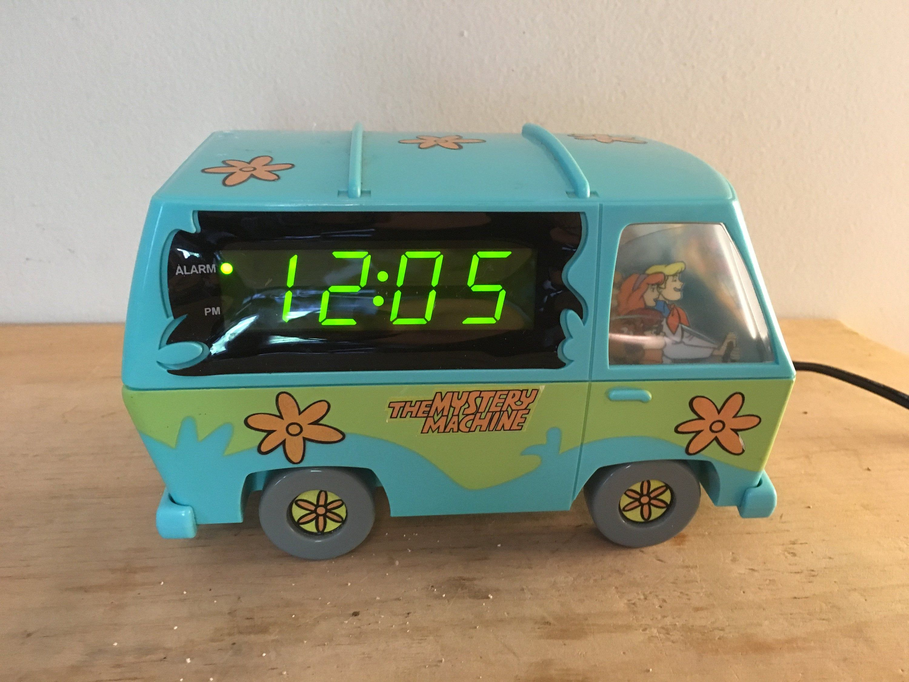 Scooby Doo Mystery Machine Clock Alarm