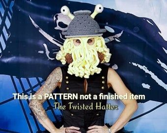 Updated Crochet Octopus Hat Aka Twisted Kraken PATTERN (pls read description before buying)