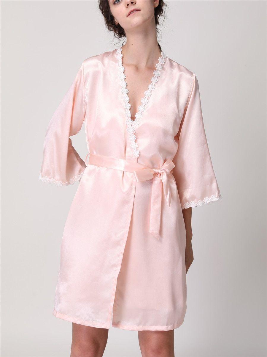 560c0481943b Buy Women s Home Dress Sweet Lace Hem Comfy Sleep Dress With Robe   Women s  Pajamas - at Jolly Chic