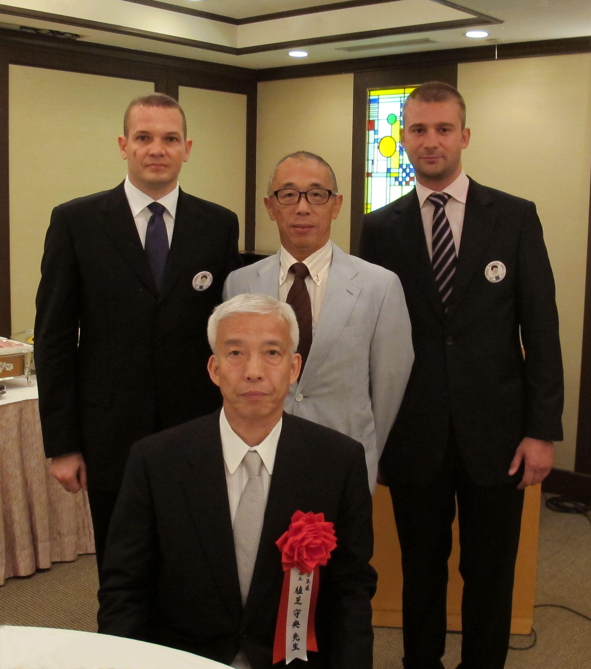 Masuda Manabu sensei, Hochstrasser Norbert, Horvath Péter with Ueshiba Moriteru doshu
