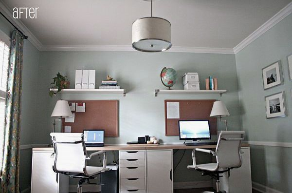 Unique Small Office Design for Two