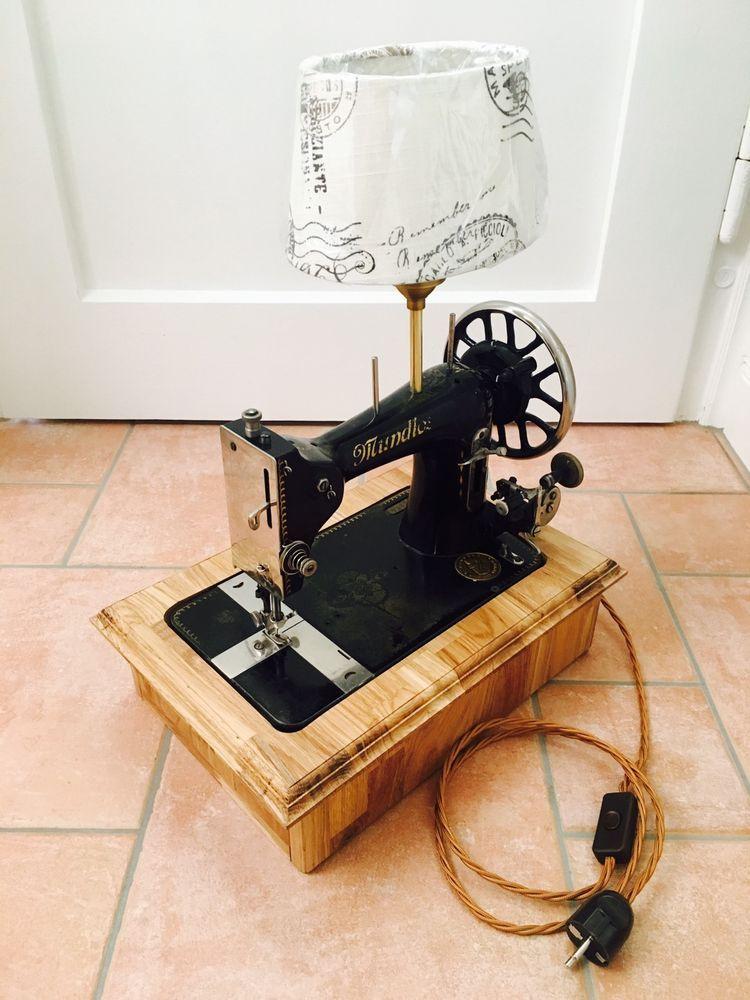 steampunk inneneinrichtung gestalten tipps, tischlampe nähmaschine vintage retro steampunk antik mundlos | ebay, Design ideen