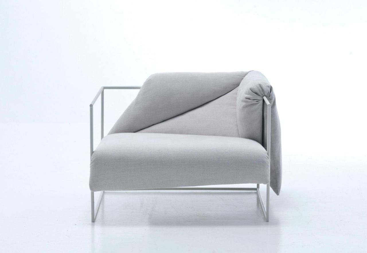 Moroso Sessel A Lounge Chair In The Shape Of A Japanese Futon Mattress Draped