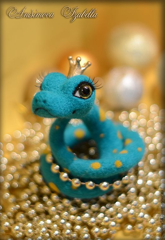 Needle felted CUTEST SNAKE EVER!!!  By Anisimov Isabella