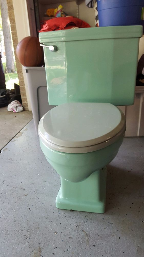 American Standard Green Toilet Vintage Retro 1950 S One