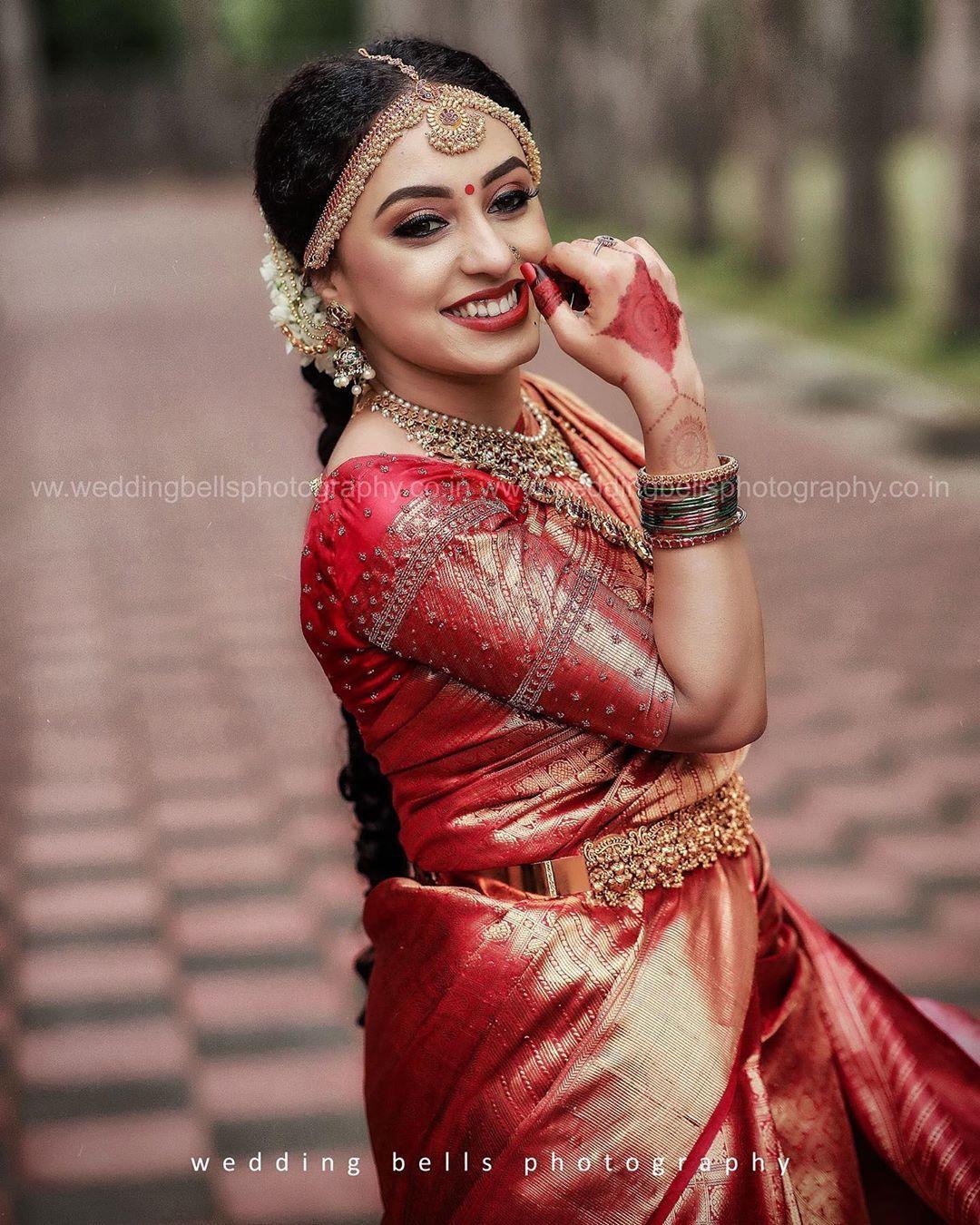 "Photo of WeddingBellsPhotography & Events On Instagram: ""Pearlish Wedding ♥ ️ ♥ ️ ♥ ️ pe @pearlemaany @srinish_aravind || Mangalyam tantunanena mama jeevana hetuna: kanthe badhnami subhage twam jeeva… """