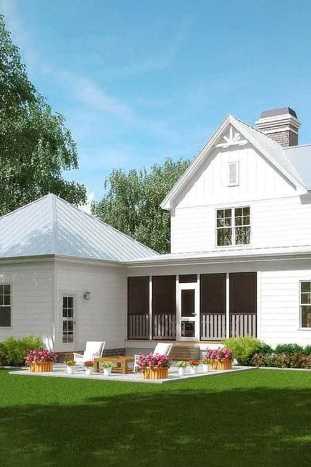 TwoStory 3Bedroom Classic Farmhouse (Floor Plan) in 2020