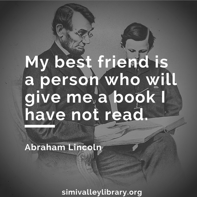 My best friend is a person who will give me a book I have