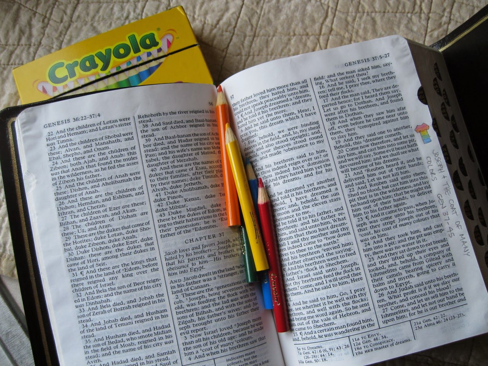 Old Testament Margin Notes And Pictures