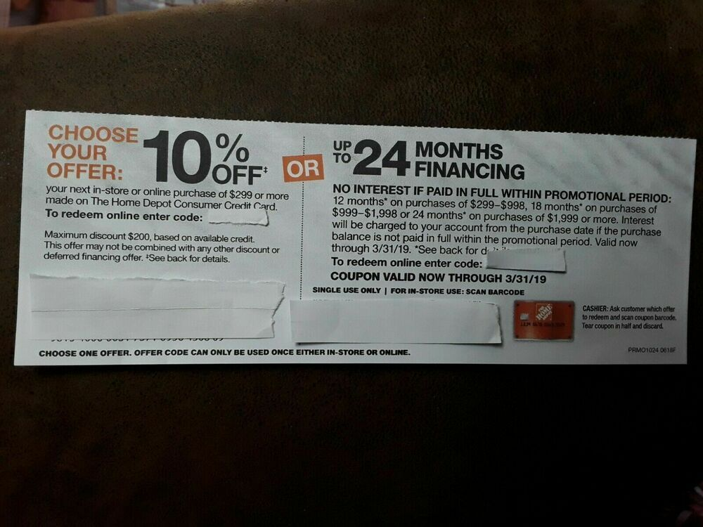 Home Depot Credit Card Discount 10