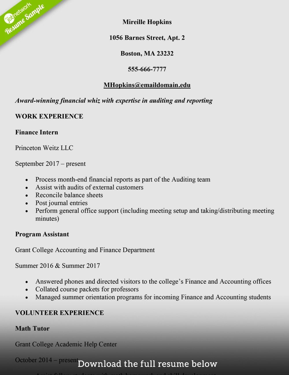 40 Resume Samples for College Student in 2020 (With images
