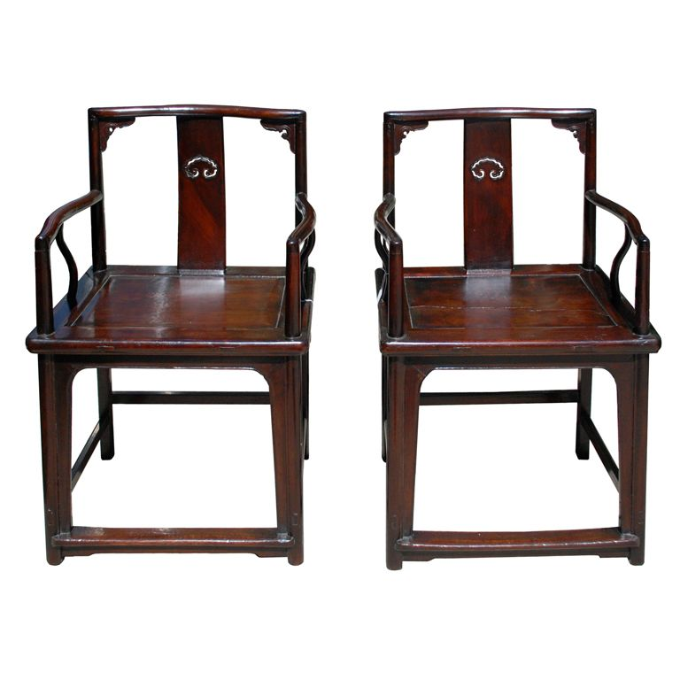 "Chinese Ming ""Style"" Chairs 18th Century"