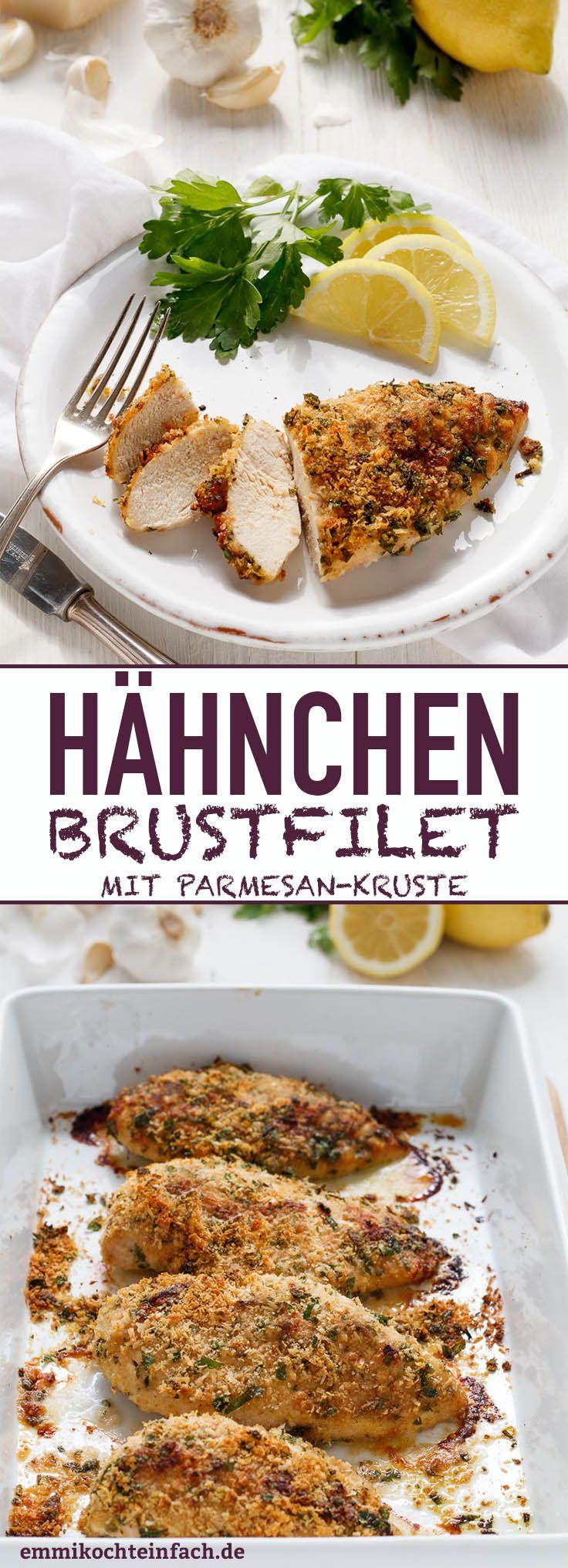 Hähnchenbrustfilet mit Parmesan Kruste - emmikochteinfach #chickenparmesan