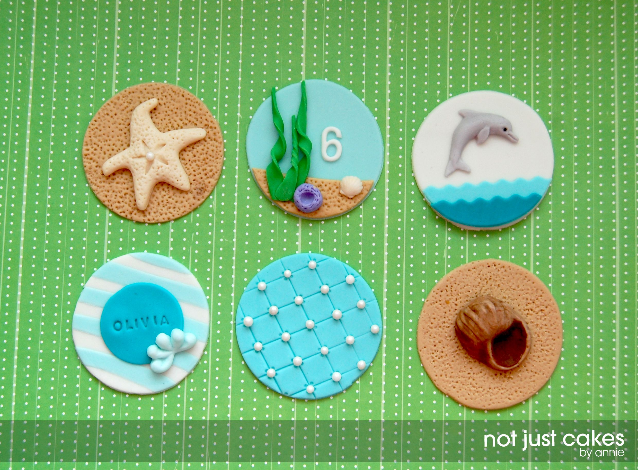 Dolphin And Sea Life Themed Cupcakes