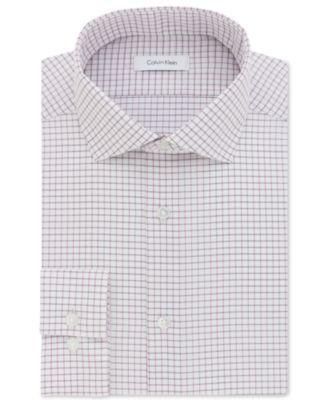 6084e56f3 CALVIN KLEIN Calvin Klein Men S Steel Slim-Fit Non-Iron Pink Check Dress  Shirt.  calvinklein  cloth   dress shirts