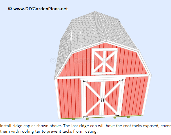 How To Install The Gambrel Shed Roof Shingles Gambrel Shed Plans Shingling