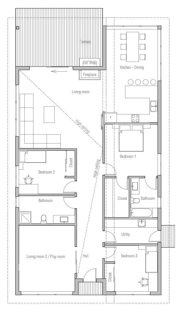 house design house plan ch391 10 house plans pinterest house