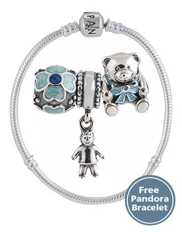 b31c84112 Pandora Baby Boy Charm Gift Set | Exquisite and Elegant Jewellery ...