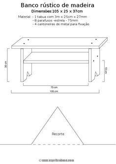 Como fazer você mesmo: Como fazer um banco rústico de madeira