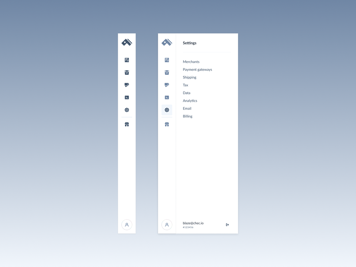 Slim Navigation Bar Navigation Design Navigation Bar Dashboard Design