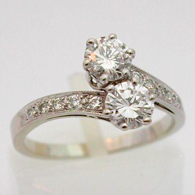 bague diamant toi et moi ancien
