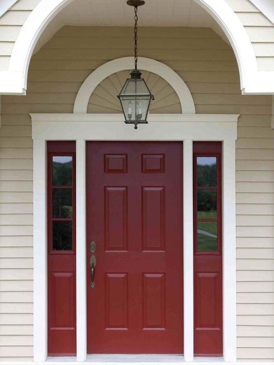 New Red Front Entry Door