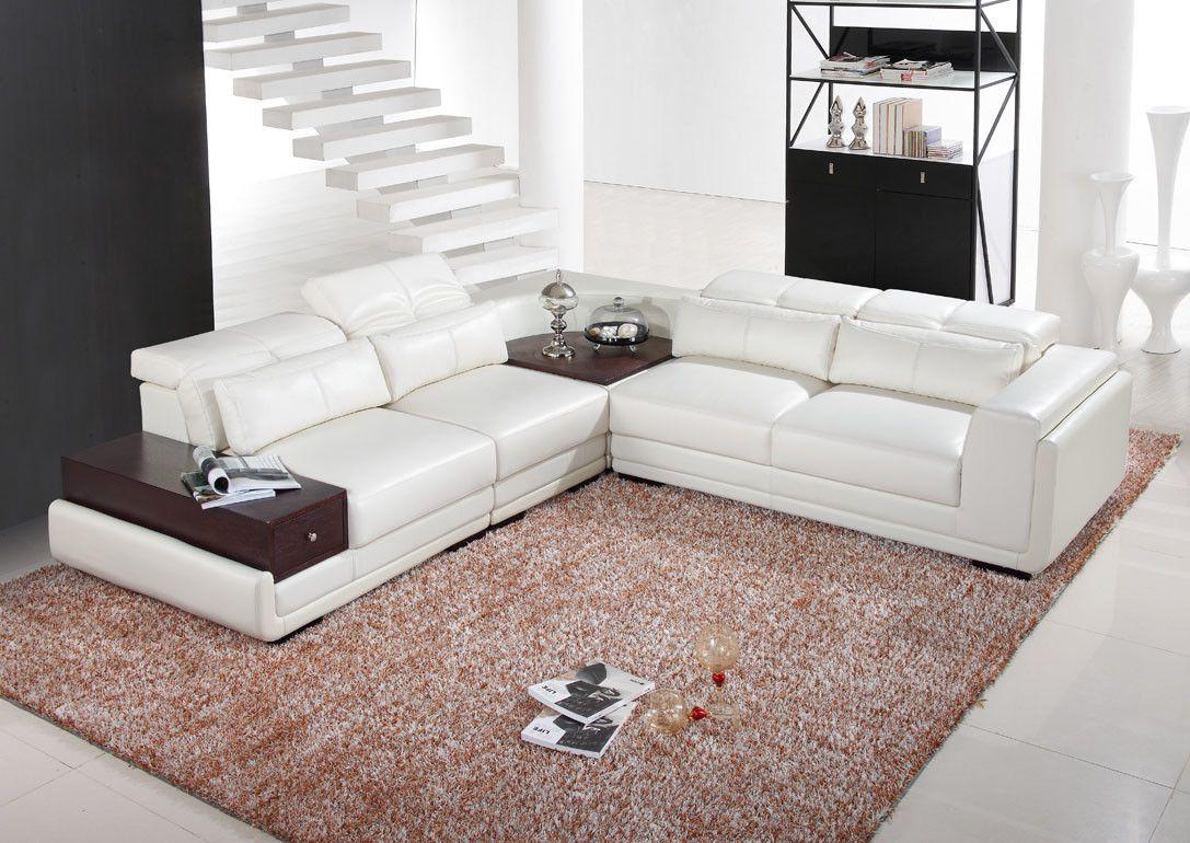 Mankato Symmetrical Reclining Sectional Reclining Sectional White Sectional Sofa Modern Bonded Leather Sectional Sofa