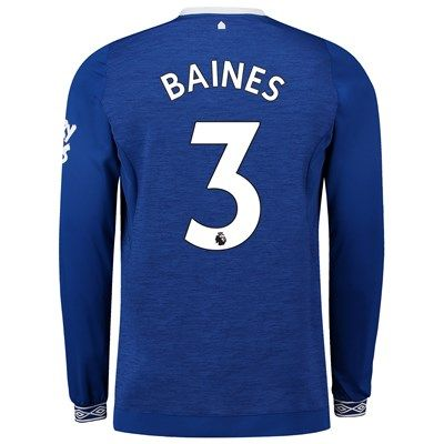 Everton Home Shirt 2018-19 - Long Sleeve with Baines 3 printing  Everton  Home 0d12f2e25