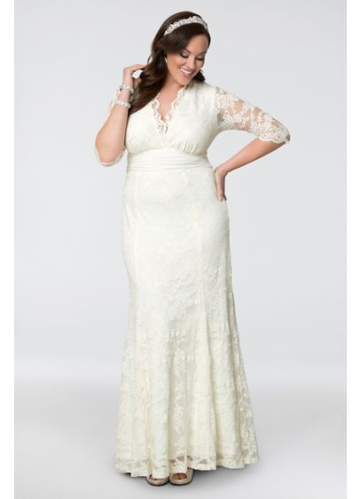 Amour Lace Plus Size Wedding Gown