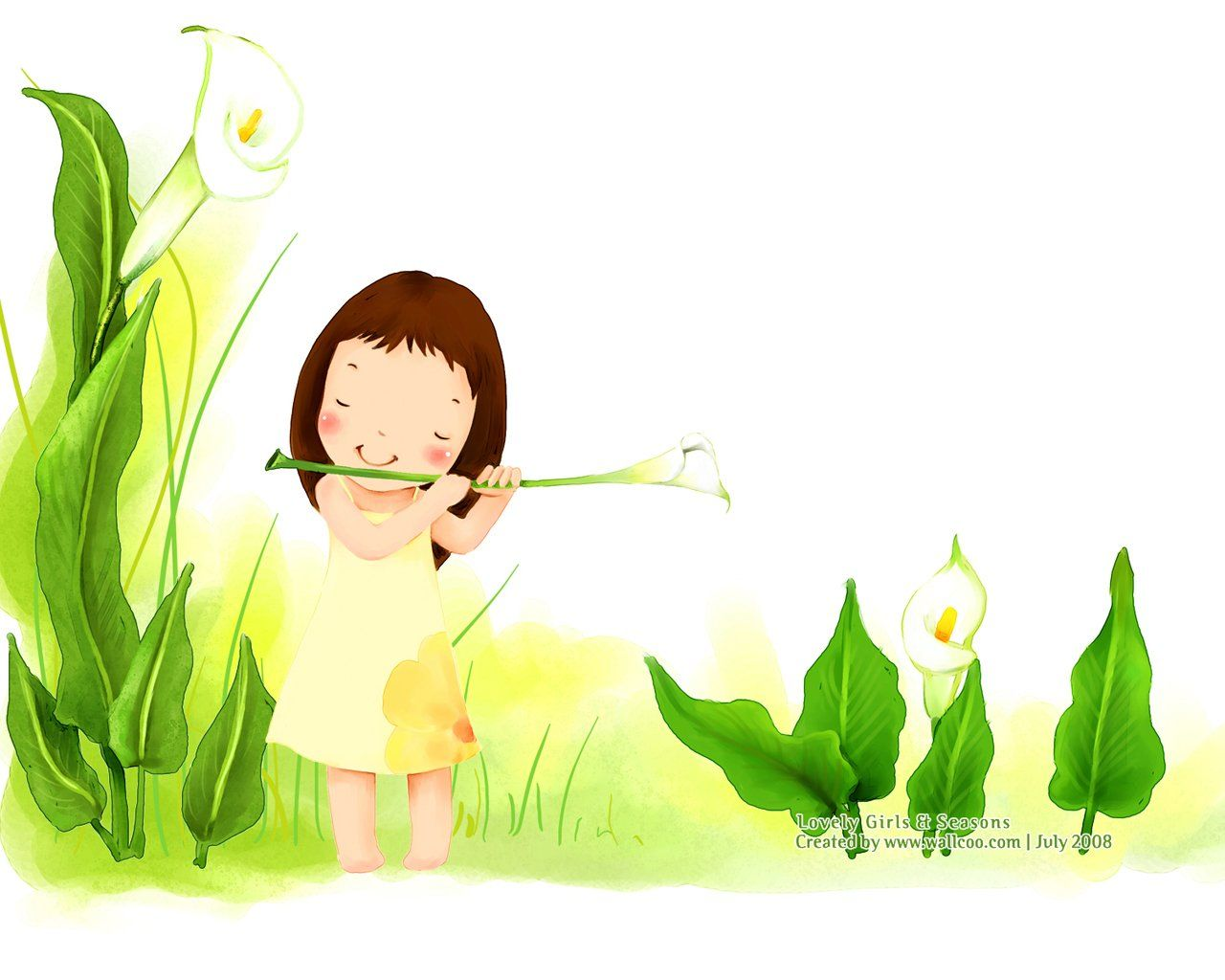 Kim Jong Bok IllustrationsVol05 Sweet Childhood Lovely Girl