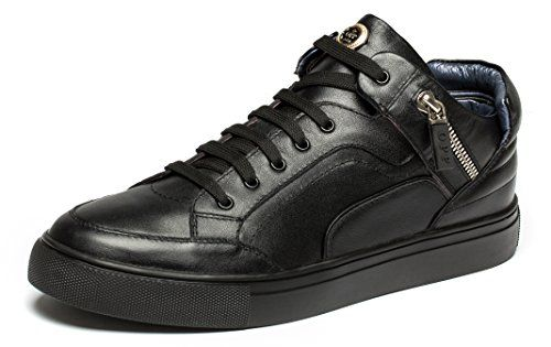37c713c099e4 OPP Mens Fashion Designer Shoes Casual Leather Hightop Laceup Sneakers with  Decoeative Zipper Design     For more information