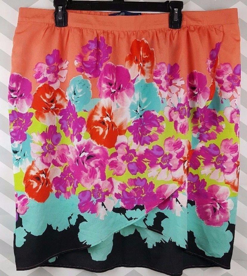 Details about Eloquii Women Skirt Size 18 100% Polyester A-line ...