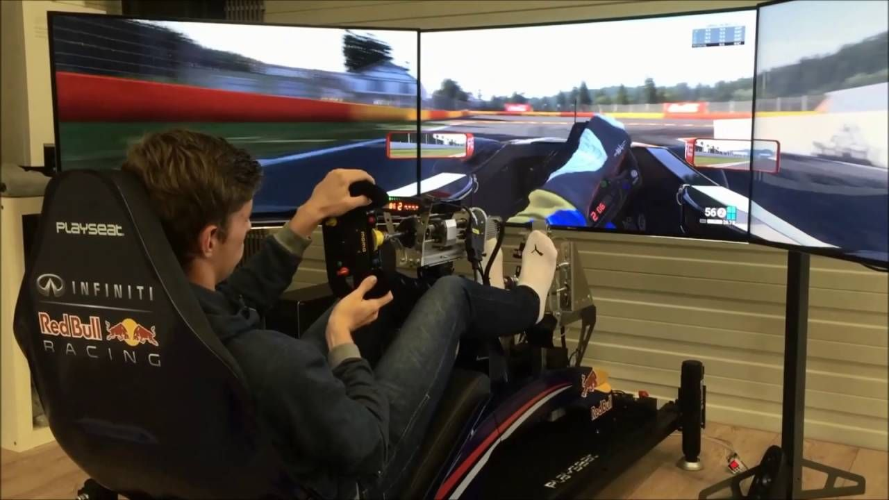 Pro F1 Driver Max Verstappen S Trying Simulator At Playseat Headquarters Max Verstappen F1 Drivers Max