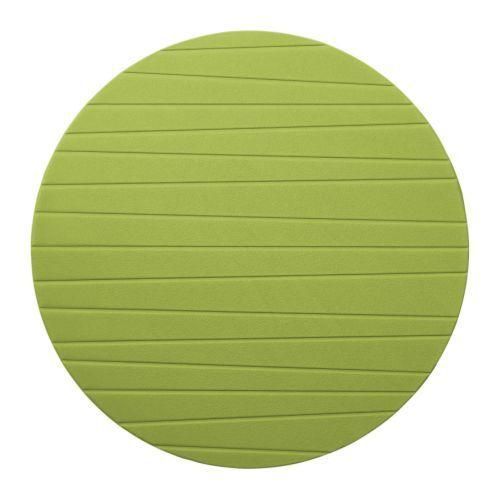 PANNÅ Tabletti, keskivihreä, IKEA Suojaa pöydän pintaa ja vähentää lautasten ja aterimien kilinää.6 kpl