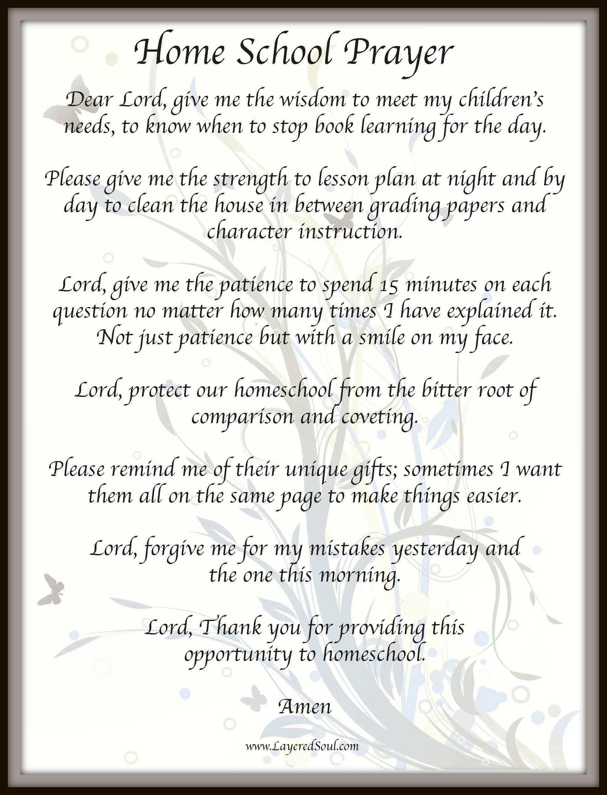 HomeSchool Prayer Homeschooling Made Easy Pinterest