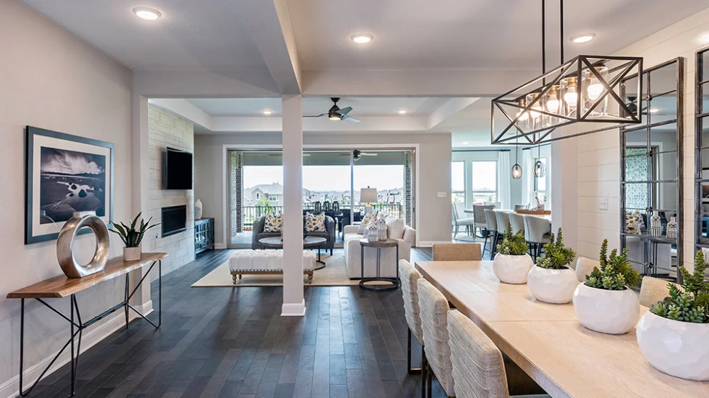 Onyx Dining Flex room, Houses in austin, Small kitchen