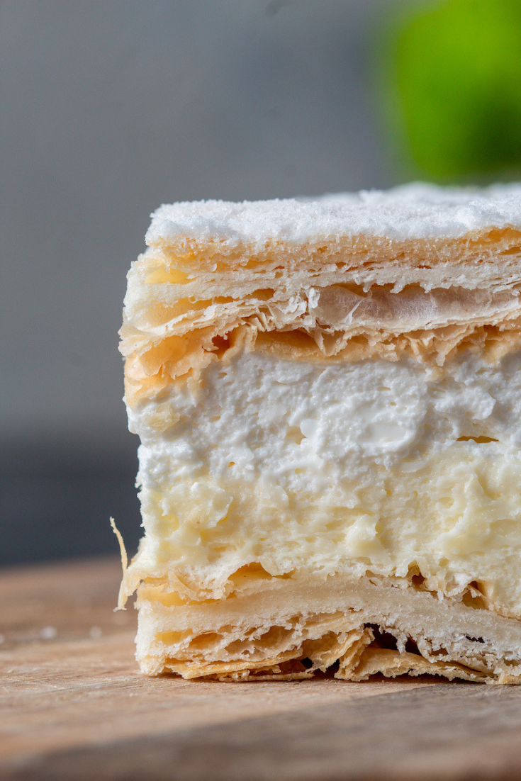 This is kremowka, the best Polish dessert.
