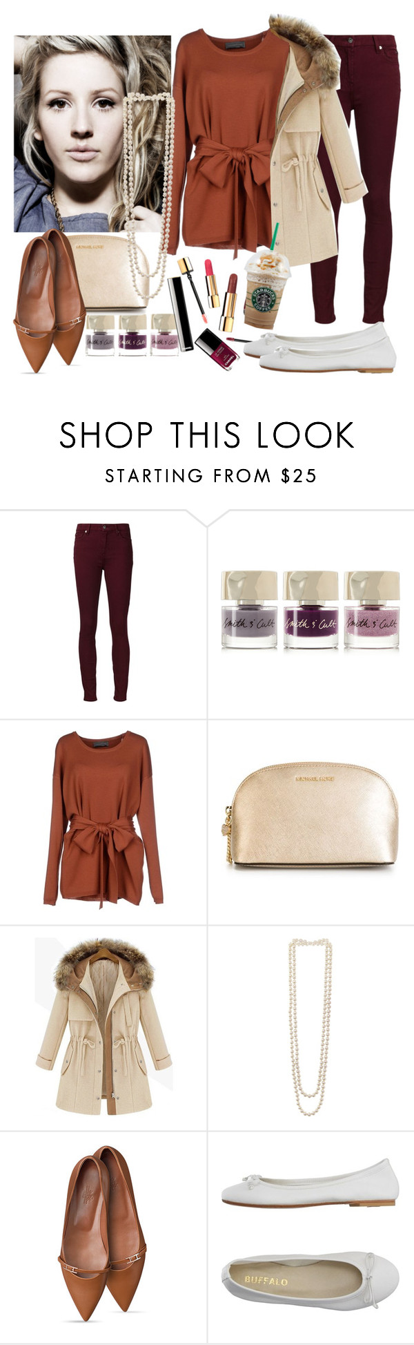 """Winter"" by tricialisha ❤ liked on Polyvore featuring 7 For All Mankind, Smith & Cult, Lemaire, MICHAEL Michael Kors, Kenneth Jay Lane, DIENNEG, women's clothing, women, female and woman"