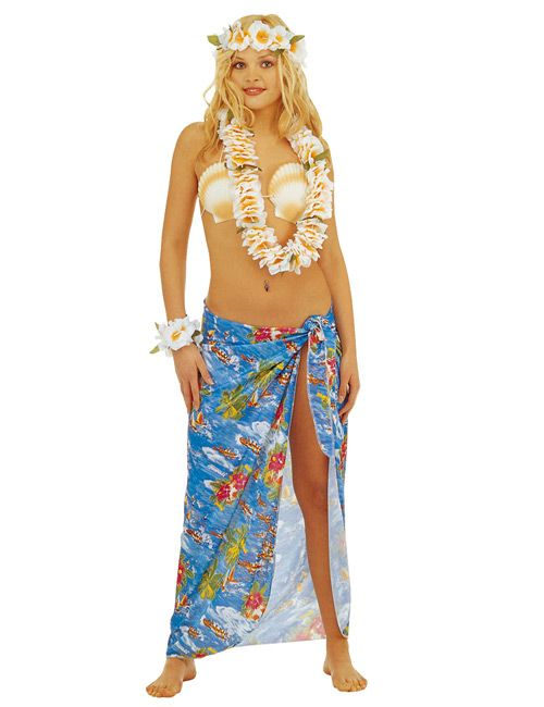 hawaii girl pareo rock blau artikelnummer 540854000 ab bei karneval megastore. Black Bedroom Furniture Sets. Home Design Ideas