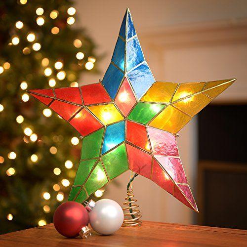 This Kurt Adler 10light 5point Capiz Star Christmas Treetop