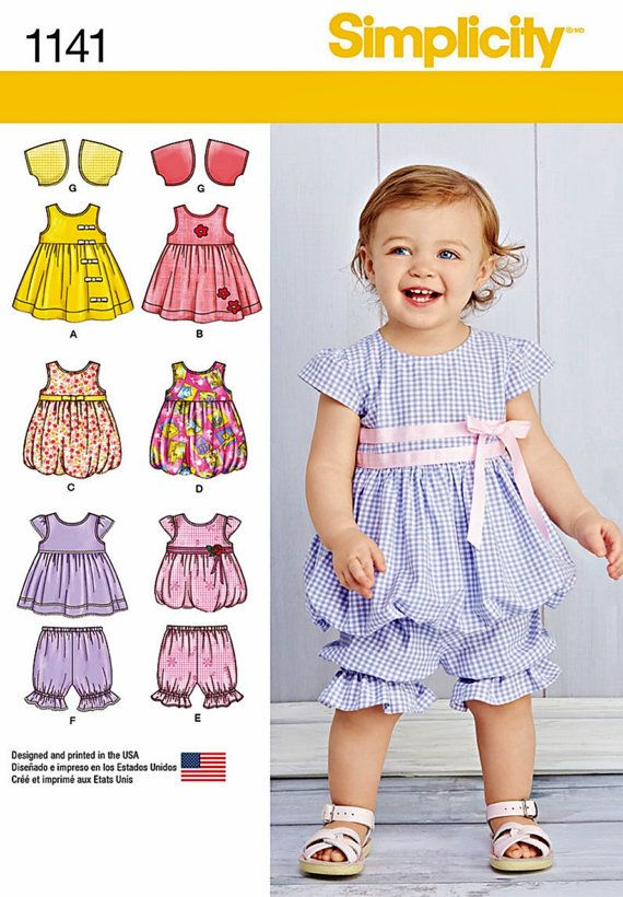 4a2e7fa16da8 Baby Girls' Top and Pantaloons Pattern, Toddler Girls' Sundress and ...