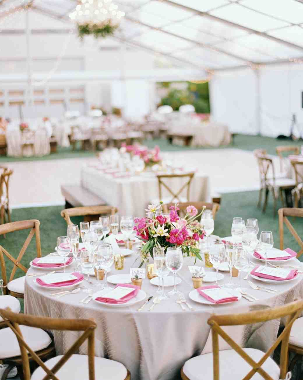 this backyard wedding was glammed up with gilded details martha