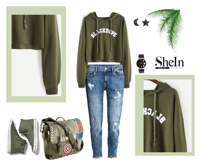 """""""She 51"""" by sarahguo ❤ liked on Polyvore featuring H&M, Marvel and Keds"""