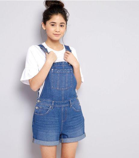 33c7865575 Teens Blue Denim Short Dungarees